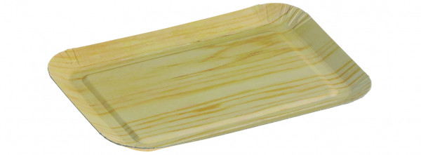 Pappschale mit PP Beschichtung matt tiefgezogen 140x190mm Höhe 19mm