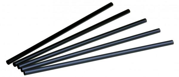 naturesse PLA Jumbo Trinkhalm schwarz 0,8x25cm