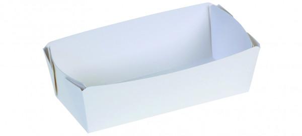 Karton-Backschale weiß, 500g, 110x70x55mm