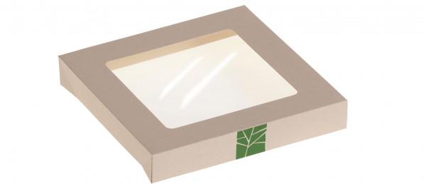 PaperWise Deckel zur Salat-Box mit PLA-Fenster für Art. 15662, naturesse