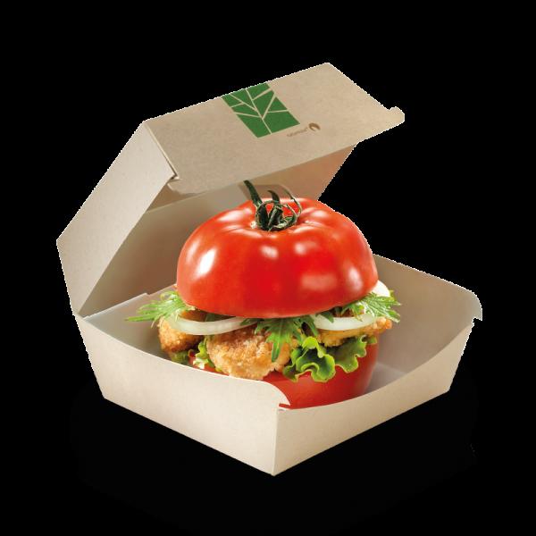 PaperWise Burger-Box mit Klappdeckel 16x15,5x9cm, naturesse
