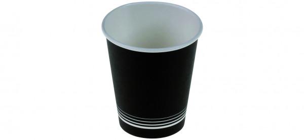 Kaffeebecher aus Karton/PE 1,8dl Ø7cm schwarz