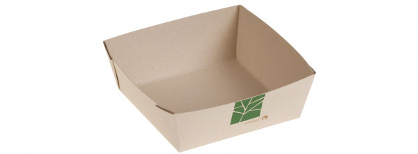 PaperWise Salat-Box 350ml, 11,5x11,5x4cm, naturesse