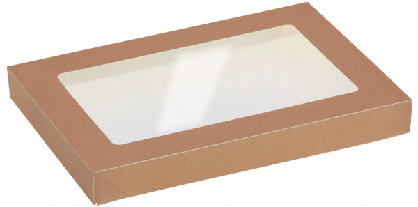 Deckel mit Sichtfenster zu Kartonbox 1000ml - 225x155mm