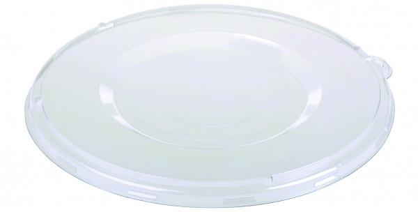 Flachdeckel PET glasklar, fest schließend mit Inneneinzug für 13517, 14970, 14971