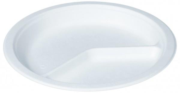 naturesse Zuckerrohr Teller rund Ø 26cm, 2-geteilt