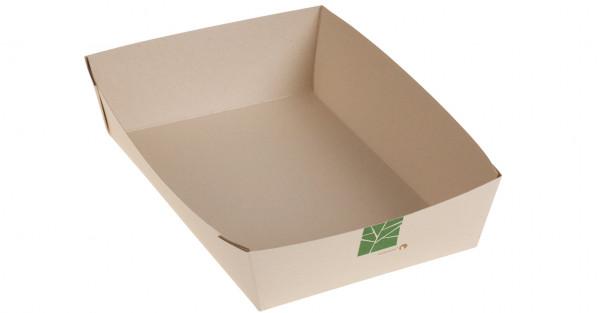 PaperWise Salat-Box 1000ml, 22,5x15,5x5cm, naturesse
