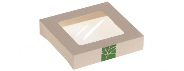 PaperWise Deckel zur Salat-Box mit PLA-Fenster für Art. 15658, naturesse