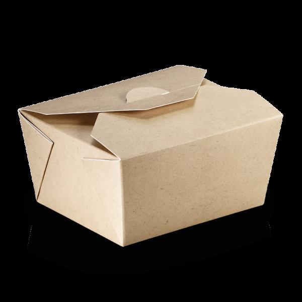 naturesse Take away Box mit PLA-Beschichtung braun/weiß 110x90x65mm 800ml