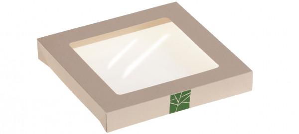 PaperWise Deckel zur Salat-Box mit PLA-Fenster für Art. 15666, naturesse