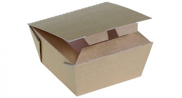 Food Box Kraft braun klein 100x100x60mm 625ml