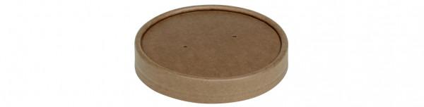 Deckel Karton Kraft, zu Becher 480 ml