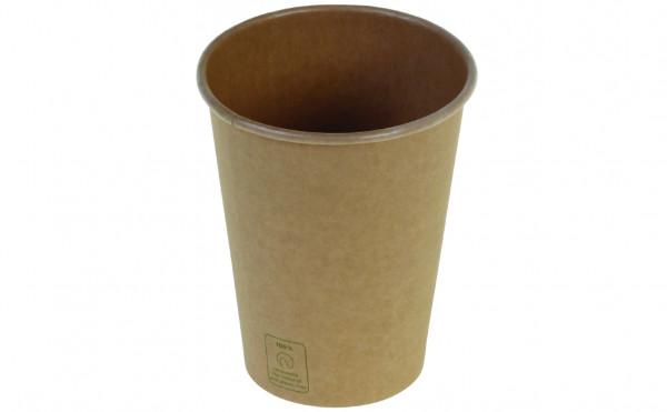 Kaffeebecher Kraft PLA unbleached, 3 dl, naturesse