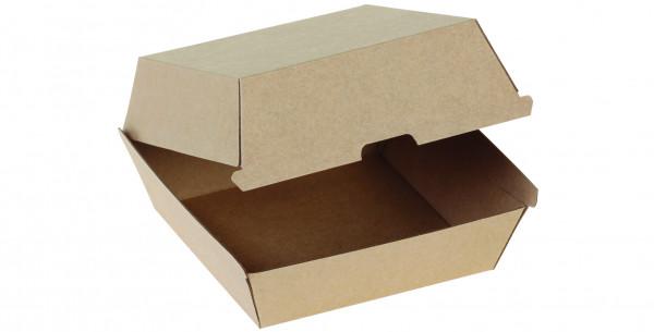 Hamburger-Box Kraft braun, 125x125x80mm