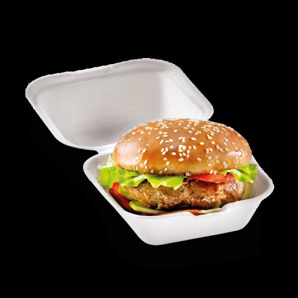 Zuckerrohr Burger Box klein 12 x 12 cm, 6,8cm tief