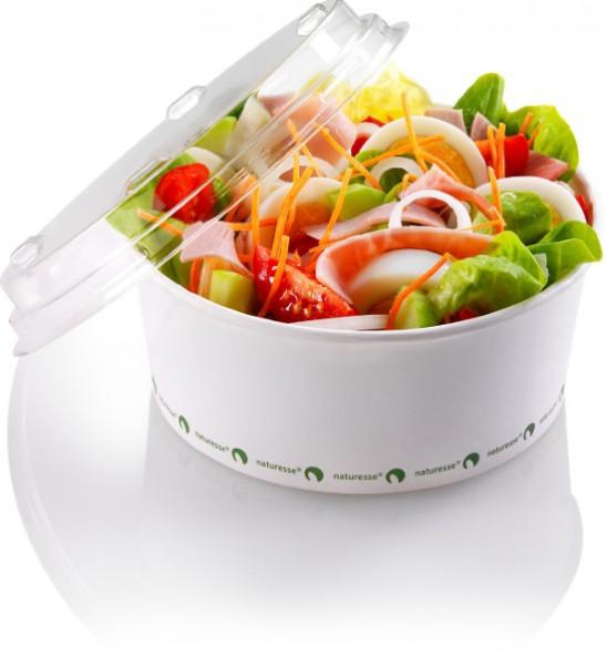 Salatschale 800ml aus Zellulose ohne Deckel