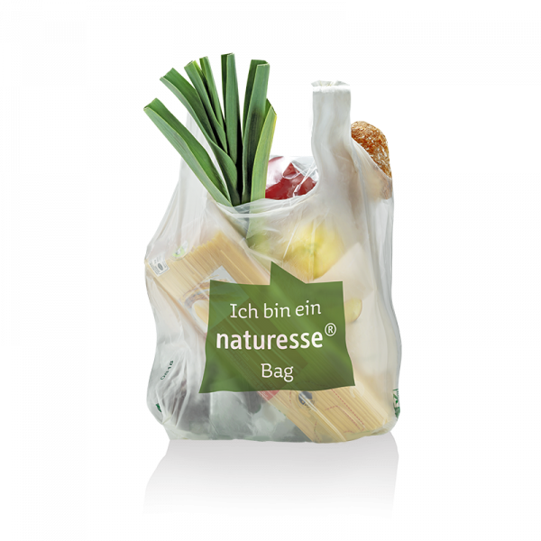 "naturesse Hemdchentragetasche MaterBi ""M"" 26+17x50cm 24my ""naturesse bag"""