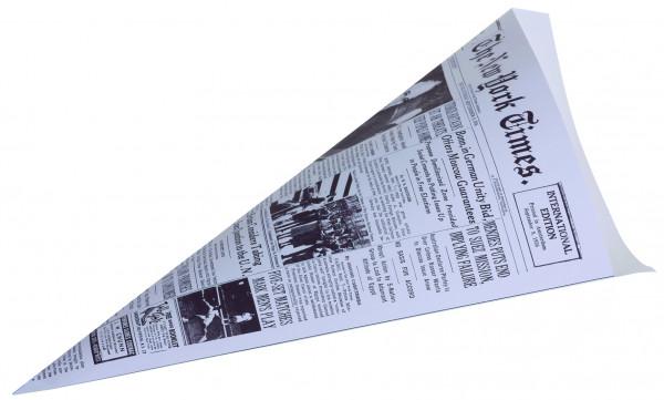 """Spitztüte klein, fettdicht, 18x25,5cm, Druck Zeitungspapier """"New York Chronicle"""""""