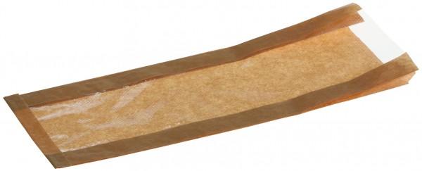 Brotbeutel mit perforiertem Sichtfenster braun 35g 180+70x460mm
