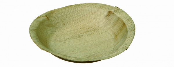 Palmblatt-Teller rund, Ø 20 cm, Tiefe 2,5 cm - Cannes