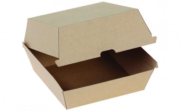 Hamburger-Box Kraft braun, 150x150x100mm