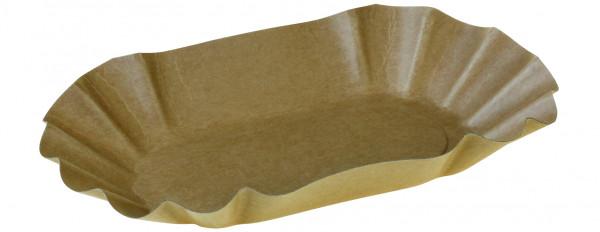 Pommes Frites Schale kraft braun ohne Beschichtung 140x220x37mm