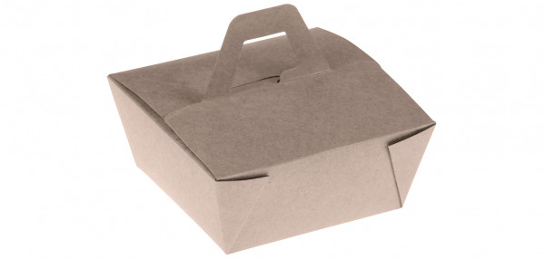 Bamboo Takeaway Box mit Henkel PLA 110x110x65mm, naturesse