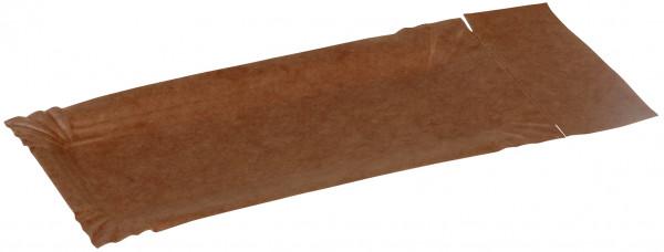 Pappteller mit Abriss kraft braun ohne Beschichtung 280-300gr/m² 80x180+30mm