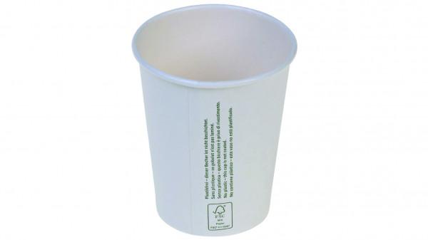 Kaffeebecher aus Karton 1dl ohne Beschichtung