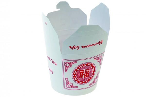 """China Tray rund weiß/rot """"Asia"""" 800ml"""