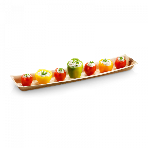 Palmblatt-Tray rechteckig 41,5 x 8,5 cm, Tiefe 2,8cm - Bonifacio