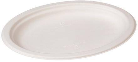 Zuckerrohr Teller oval 26 x 19,5 cm