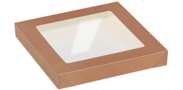 Deckel mit Sichtfenster zu Kartonbox 2000ml - 177x177mm
