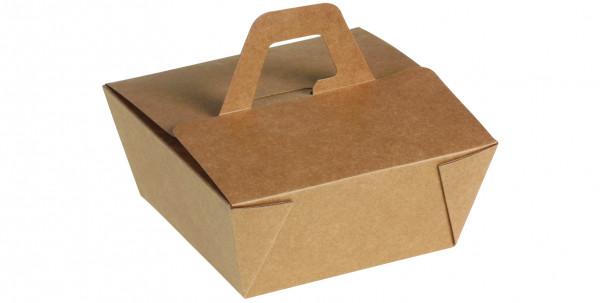 naturesse Take away Box mit Henkel Kraft/PLA 120x120x65mm 936ml