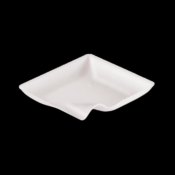 Zuckerrohr Teller Wave 8 x 8 x 0,9 cm