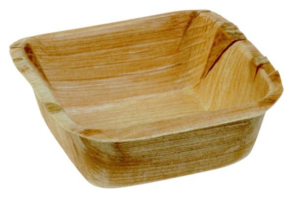 Palmblatt-Dip-Schale viereckig, 7 x 7 x 2,5 cm - Mini Cadiz