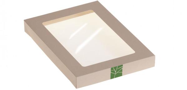 PaperWise Deckel zur Salat-Box mit PLA-Fenster für Art. 15664, naturesse