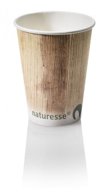 Kaffee Kartonbecher Druck Palmblatt 0,3 l, naturesse
