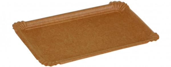Pappteller kraft braun ohne Beschichtung 300gr/m² 130x200mm