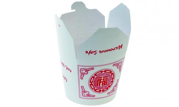 """China Tray rund weiß/rot """"Asia"""" 450ml"""