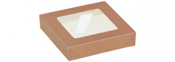 Deckel mit Sichtfenster zu Kartonbox 350ml - 115x115mm