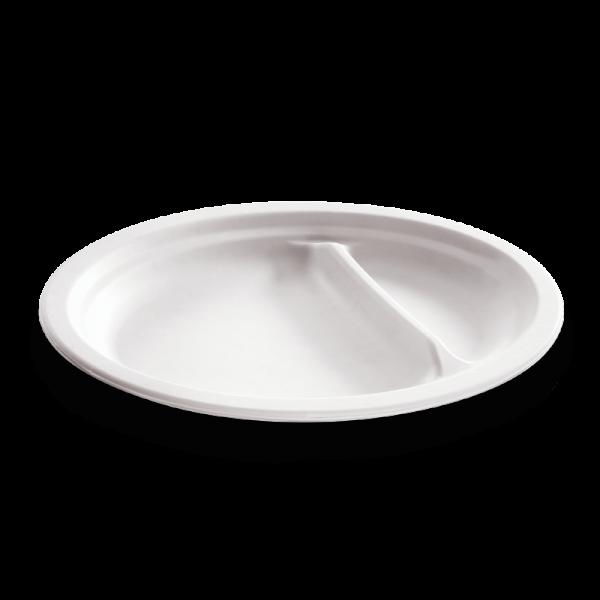 naturesse Zuckerrohr Teller oval 26cm, 2-geteilt