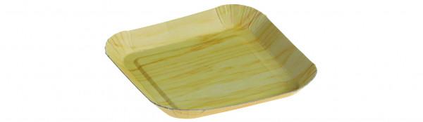 Pappschale mit PP Beschichtung matt tiefgezogen 105x105mm Höhe 12mm