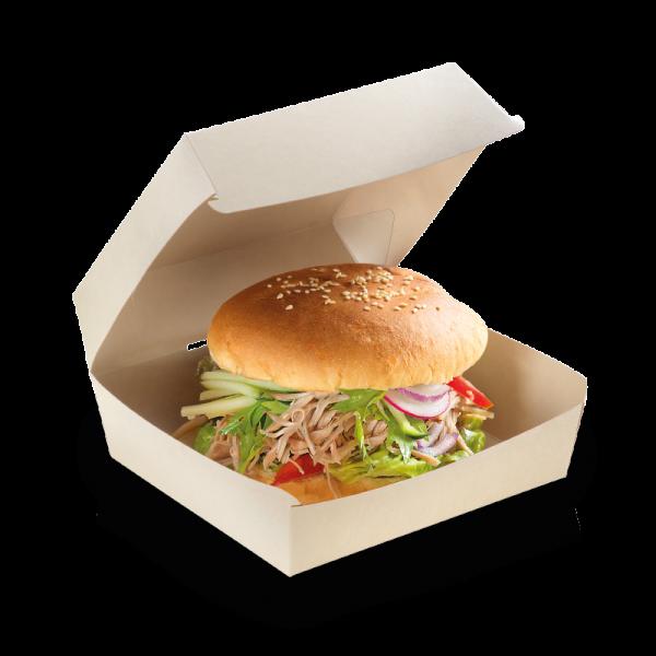 Bamboo Burgerbox PLA 155x155x85mm, naturesse