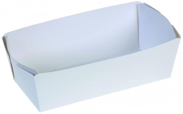 Karton-Backschale weiß, 2000g, 255x100x75mm