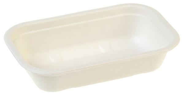 Zuckerrohr Salatschale, 1000 ml, 22,9x15,3cm, 5,7cm tief, ohne Deckel