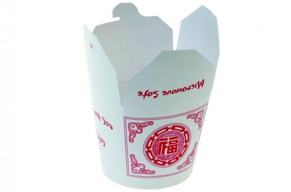 """China Tray rund weiß/rot """"Asia"""" 650ml"""