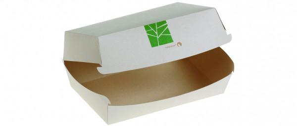PaperWise Burger-Box mit Klappdeckel 15x10x7cm, naturesse