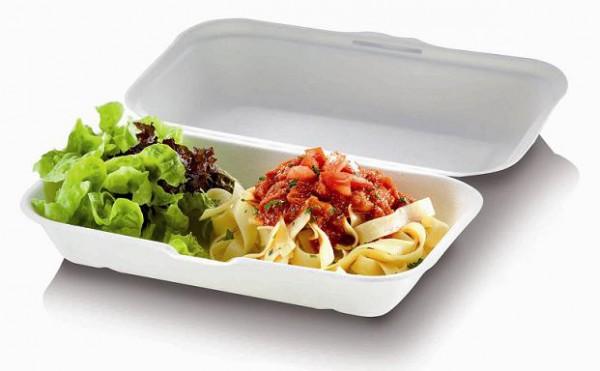 Zuckerrohr Food Box M mit Klappdeckel 18,5x14cm ,7,4cm tief