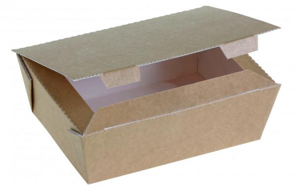 Food Box Kraft braun groß 120x160x60mm 1125ml